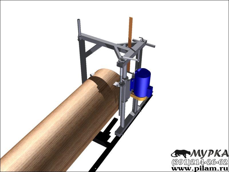 3D макет шинной пилорамы Мурка